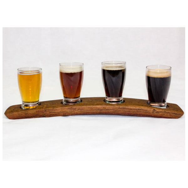 4 Glass Beer Flight from Barrel-Art
