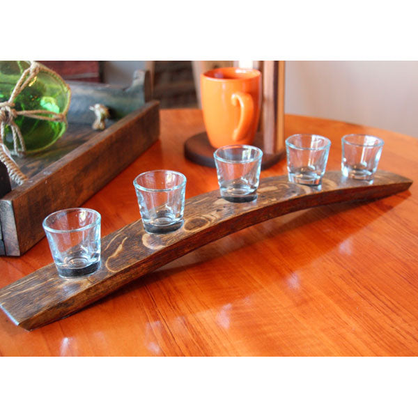 5 Shot Glass Flight from Barrel-Art