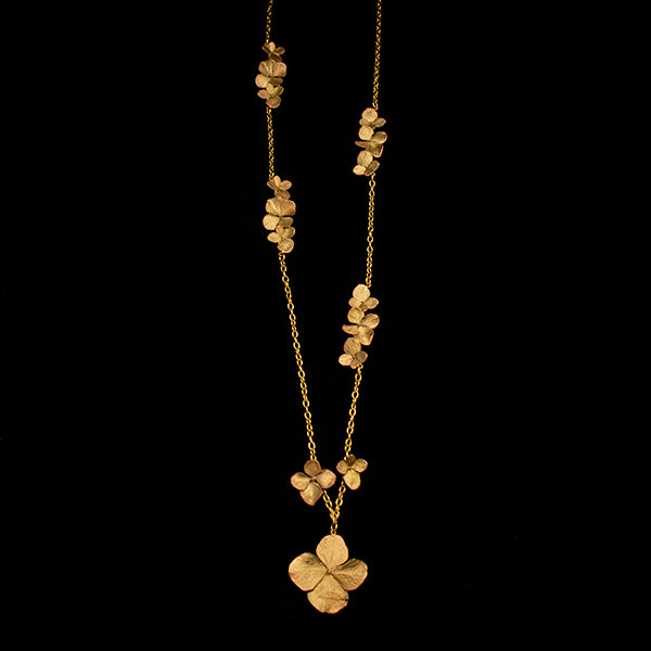 Hydrangea Long Necklace