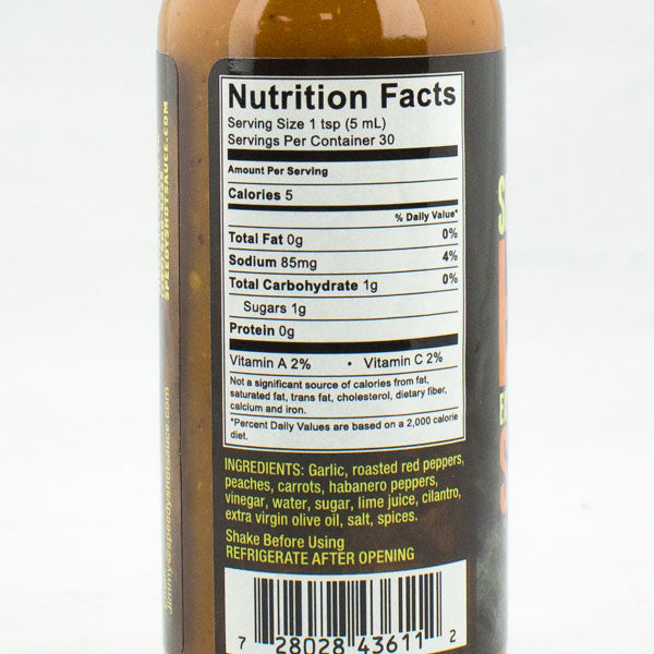"Speedy's #88 ""Extra Heat"" from Speedy's Hot Sauce Nutrition Info"
