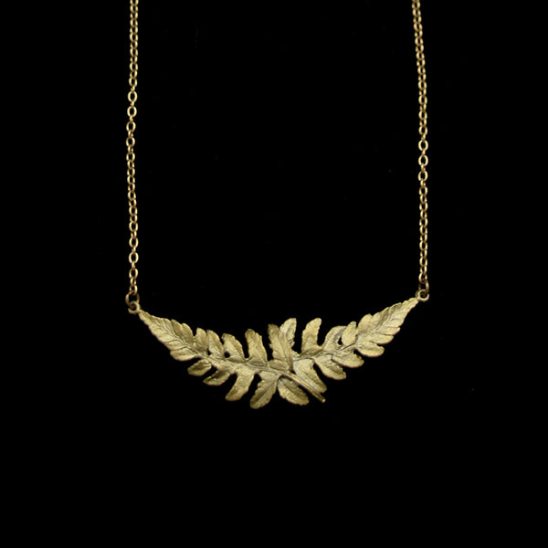 "Dainty Additions Fern Necklace, Bronze, 16"" - 18"""