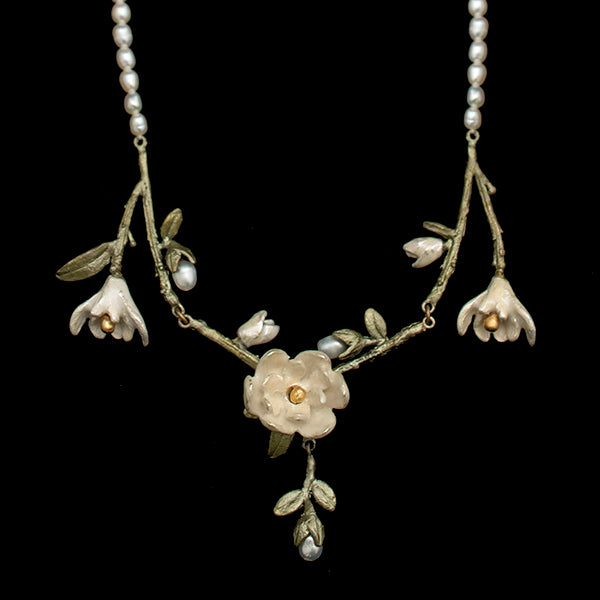 Magnolia Pearl Bib Necklace