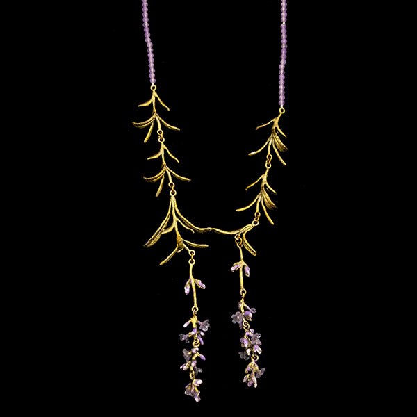 Cascading Lavender Necklace