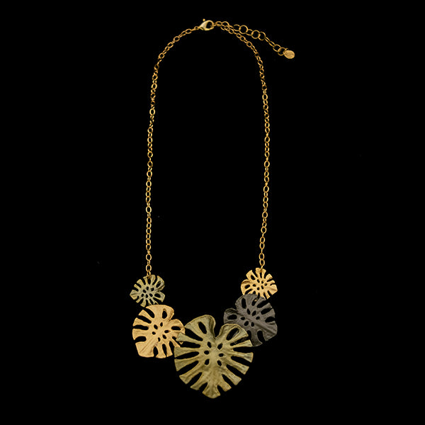 Monstera Statement Necklace