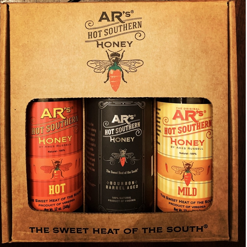 Hot Southern Honey Sampler, 3 Pack, 12oz Bottles