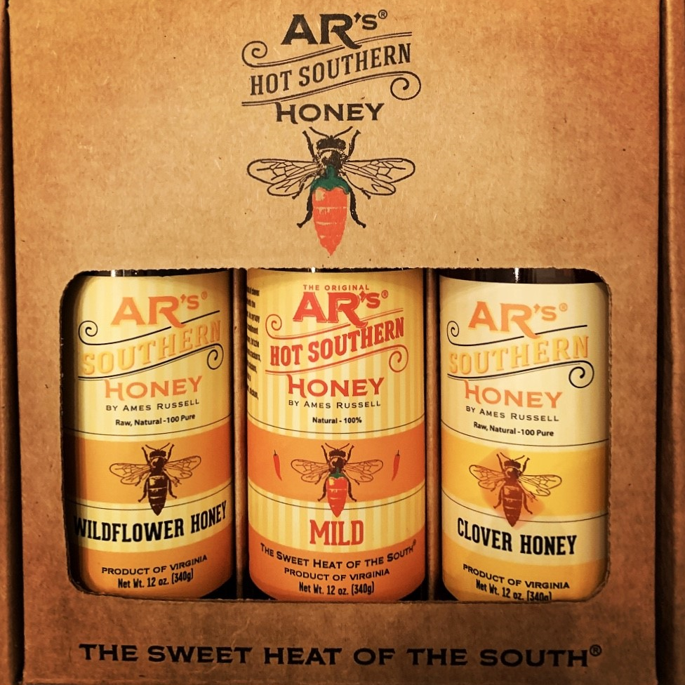 Lotta Honey, Little Heat 3 Pack by AR's Hot Southern Honey
