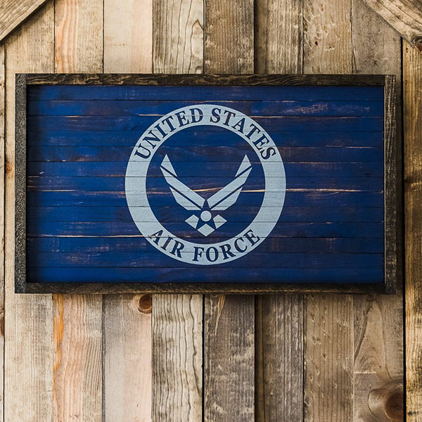 Air Force Flag Wood Sign