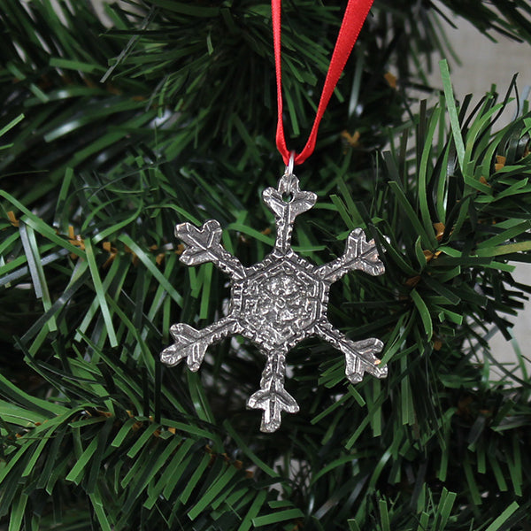 Ornament, Winter Snow Flake, Pewter