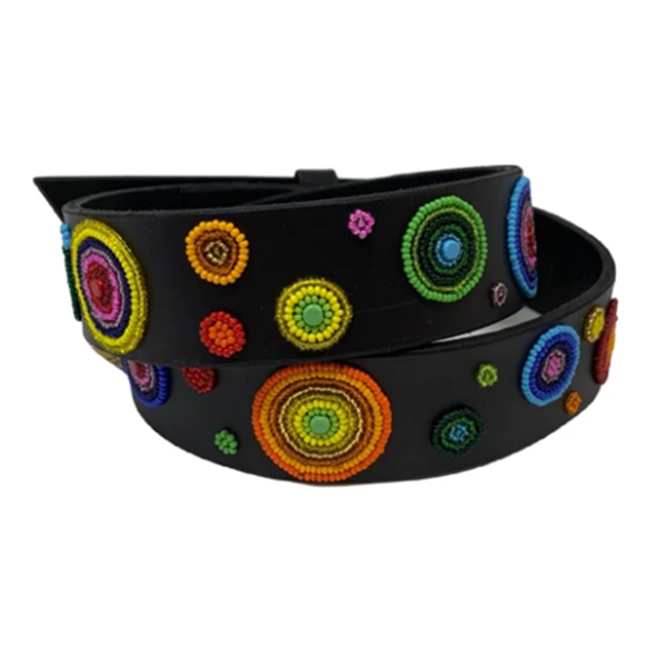 Arani Dots Beaded, Dog Collar