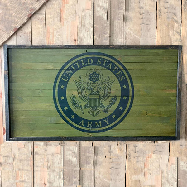 Army Flag Wood Sign