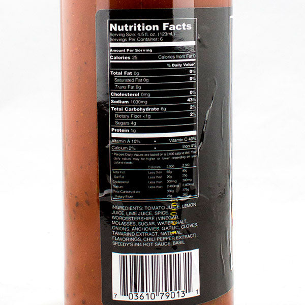 Bloody Mary Mix from Speedy's Hot Sauce Nutrition Info
