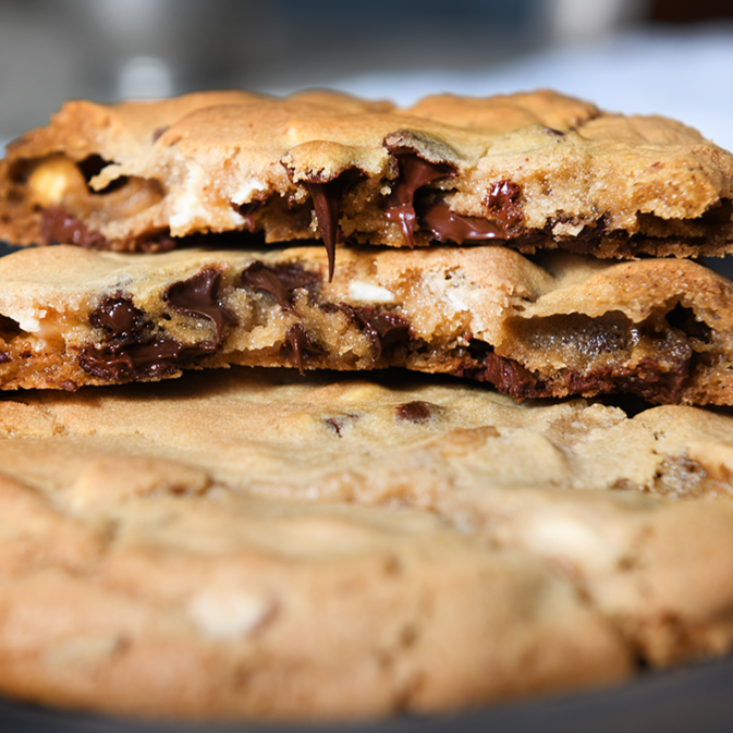 White, Dark + Semisweet Chocolate Chip Cookies from Celli's Chocolate Chips