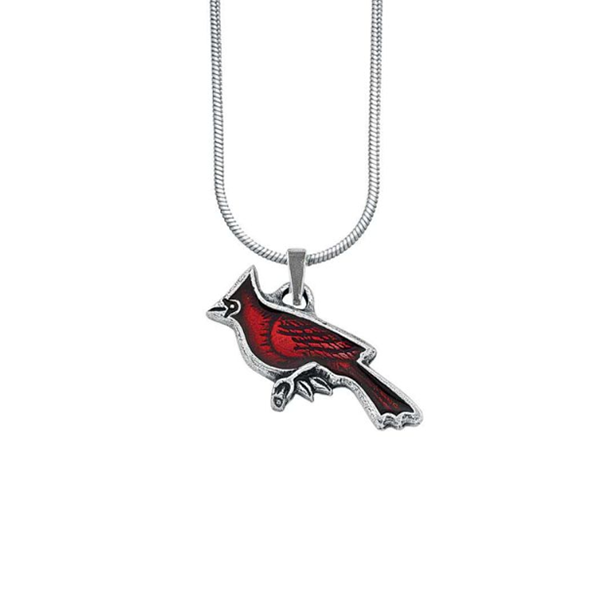 Cardinal Necklace, Pewter, 18""