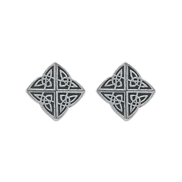 Celtic Mini Post Earrings, Pewter, 1/2""