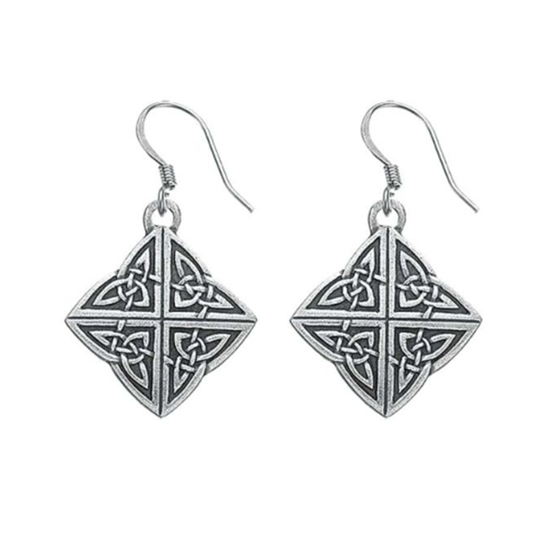 Celtic Earrings, Pewter, 1.5""