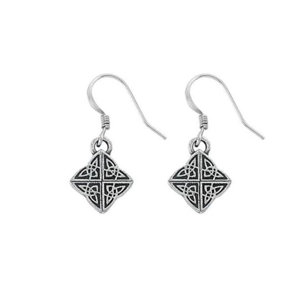 Celtic Mini Earrings, Pewter, 1""