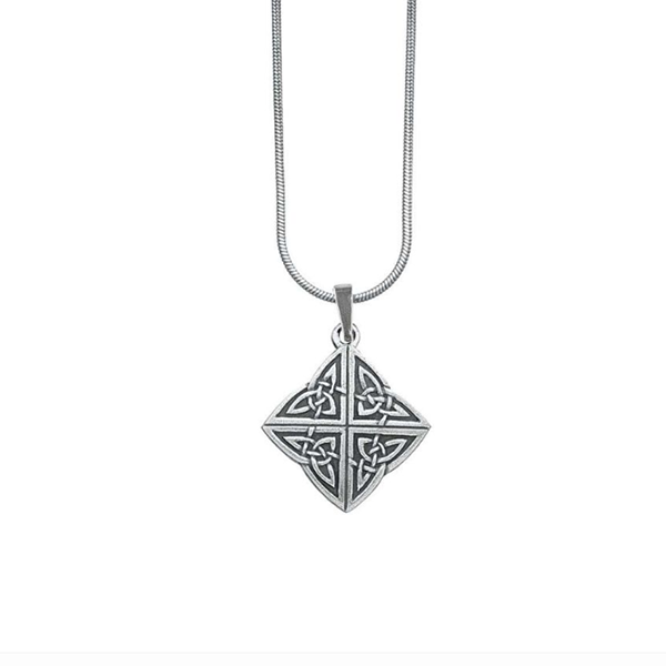 Celtic Knot Necklace, Pewter, 18""