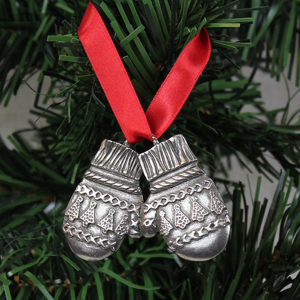 Ornament, Winter Mittens, Pewter