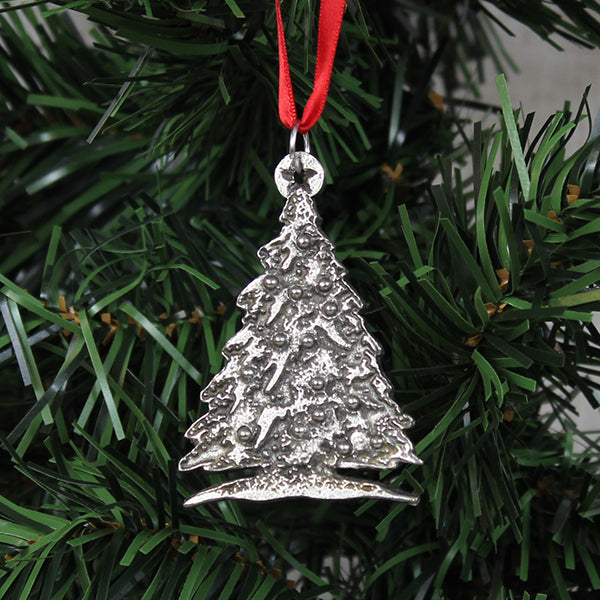 Ornament, Christmas Tree, Pewter