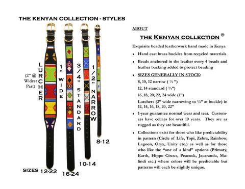 The Kenyan Collection Sizing Chart