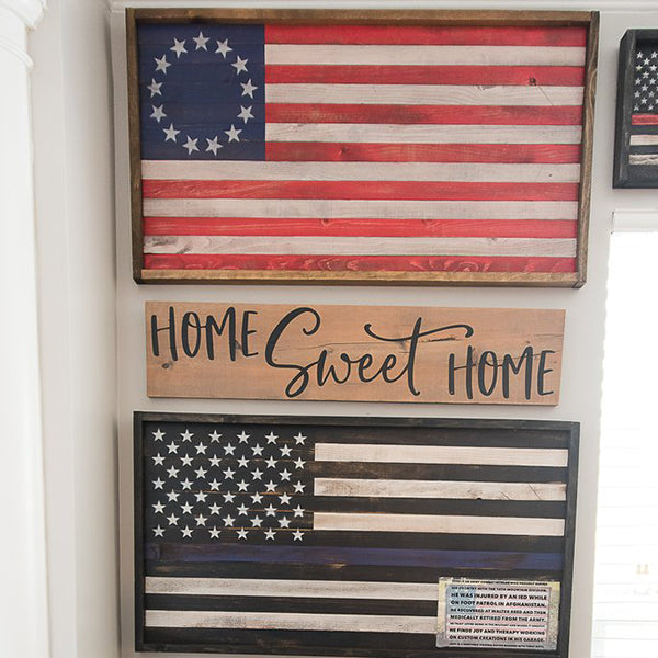 Betsy Ross Flag Wood Sign
