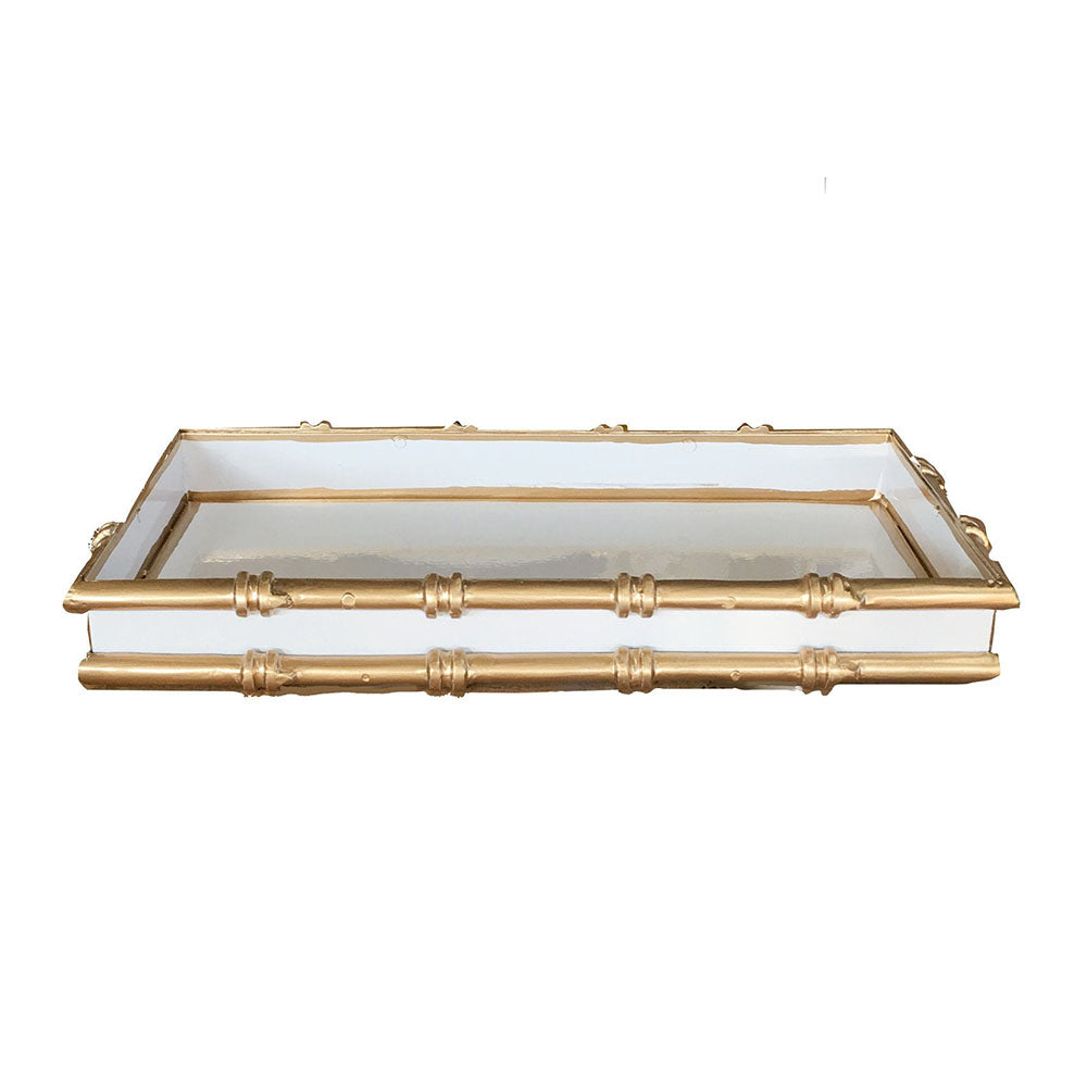 Dana Gibson Bamboo Letter Tray in White