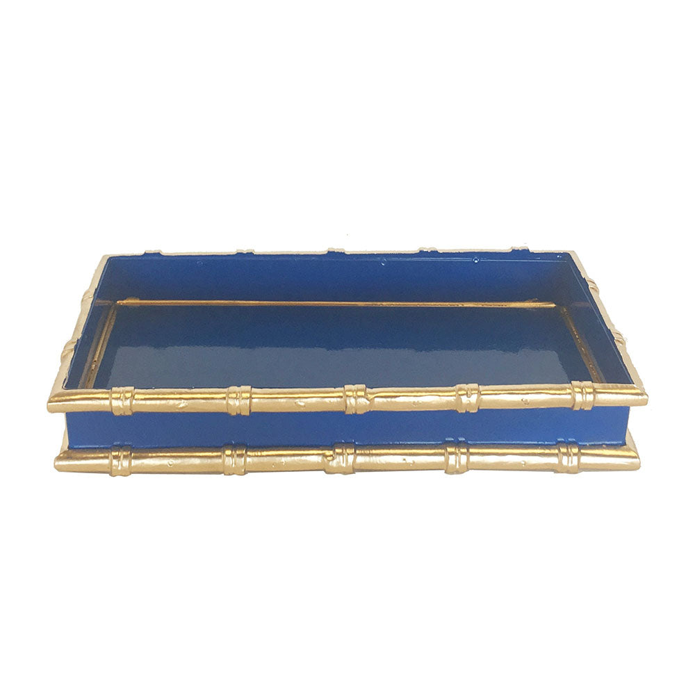 Dana Gibson Bamboo Letter Tray in Navy