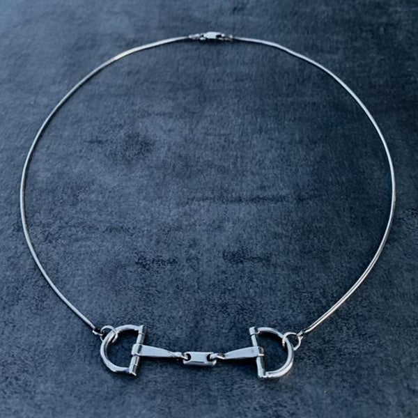 D Ring Bit Choker, Sterling Silver