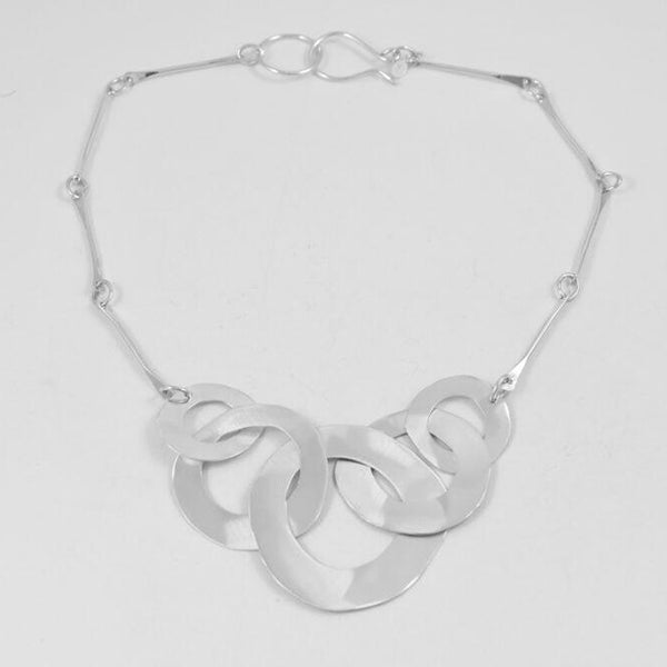 Five Ring Interlocking Cutout, Necklace, 18""