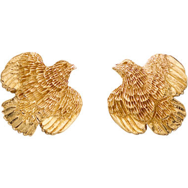 Quail Earrings, 1/2""