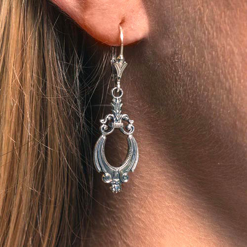 Glory Vintage Filigree Sterling Silver Earrings by Hugo Kohl