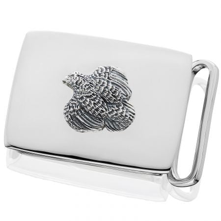 Sterling Quail Belt Buckle by Grainger McKoy