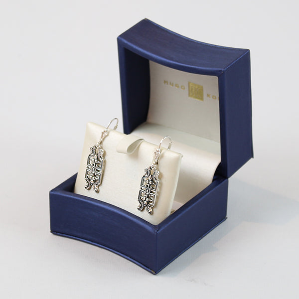 Hugo Kohl Sterling Silver Earrings in gift box