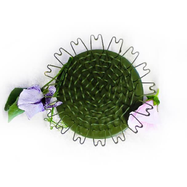 "Round Hairpin Flower Holders, 2.5"" Tall"