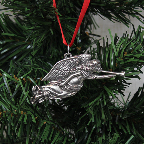 Ornament, Trumpeting Angel, Pewter