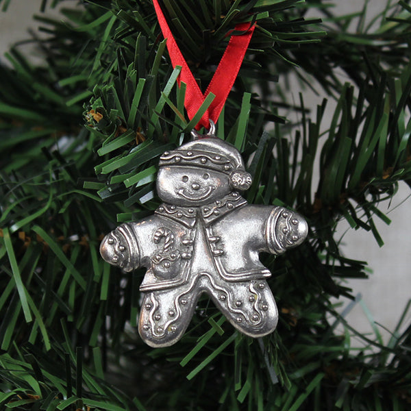 Ornament, Gingerbread Man, Pewter