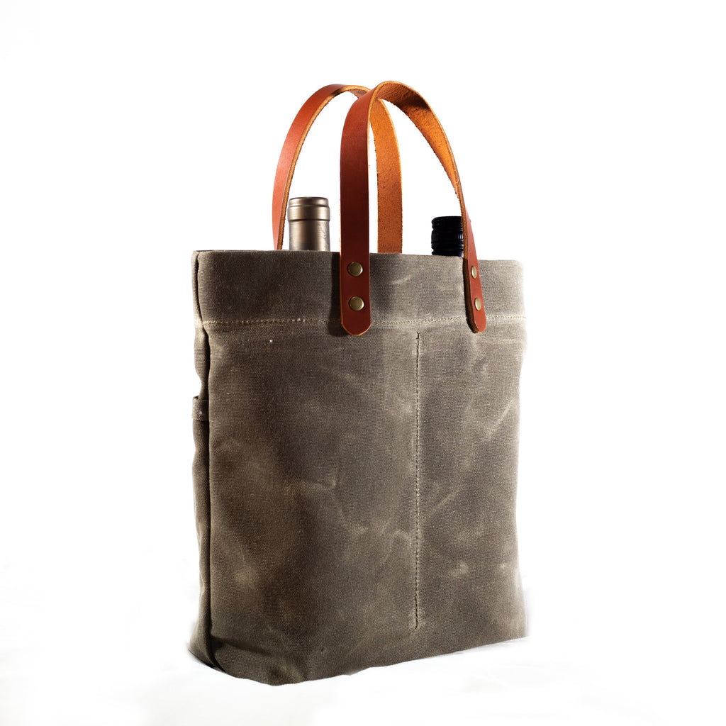 Bottle Tote, Field Tan