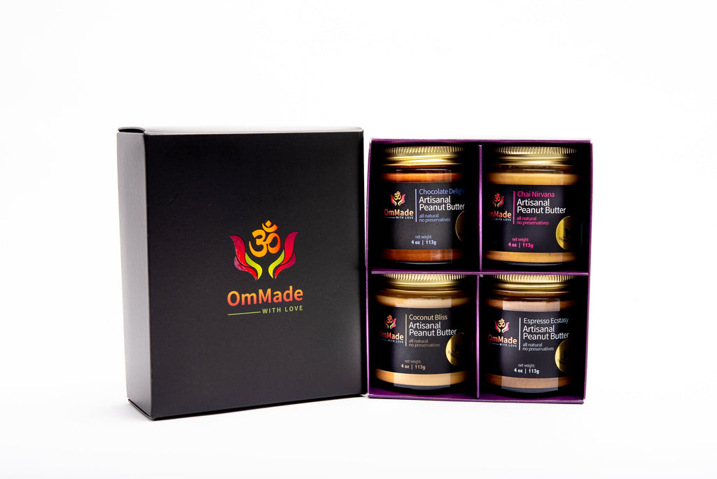 OmMade Peanut Butter Gift Box: Sweetheart Set