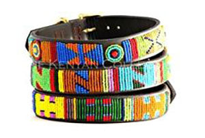 Hippo Circus Beaded Dog Collar by The Kenyan Collection