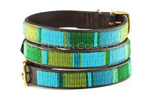 Lagoon Beaded Dog Collar by The Kenyan Collection