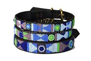 Passion Flower Beaded Dog Collar by The Kenyan Collection