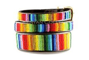 Rainbow Beaded Dog Collar by The Kenyan Collection