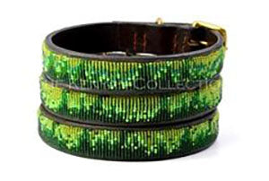 Rainforest Beaded Dog Collar by The Kenyan Collection
