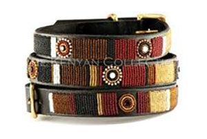 Topi Beaded Dog Collar by The Kenyan Collection
