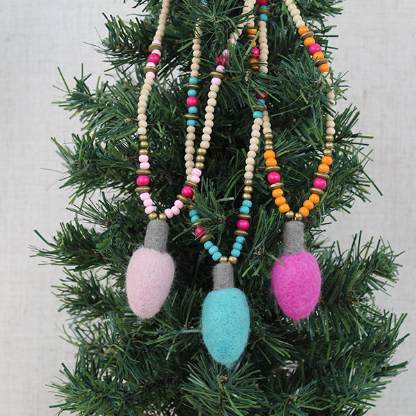 Holiday LIghts Necklace