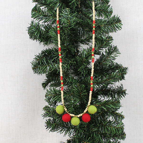 Holiday Pom Pom Necklace