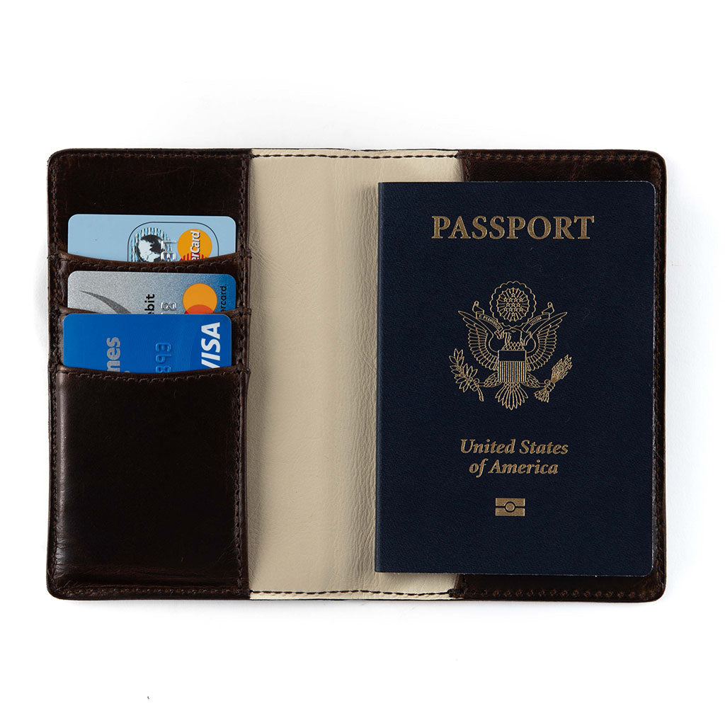 Passport Wallet, Leather, 5.75""