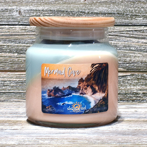 Shining Sol Mermaid Cove Scented Soy Candle - Large Jar