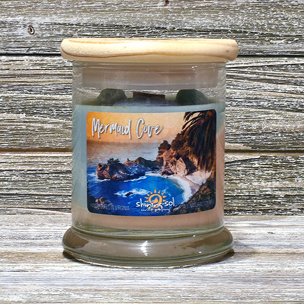 Shining Sol Mermaid Cove Scented Soy Candle - Medium Jar