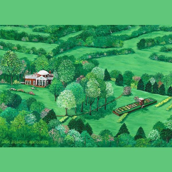 Monticello Countryside, Giclee Print, 11 x 14""
